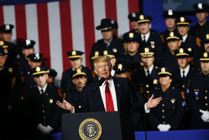 Trump 2017 in Brentwood, Long Island