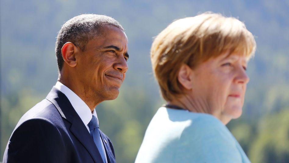 Obama und Merkel (beim G7-Gipfel in Elmau 2015)