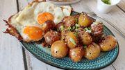 Koreanische Kartoffeln mit Sesam, Honig und Knoblauch – für 1,50 Euro