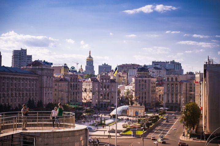 Der Maidan in der ukrainischen Hauptstadt Kiew
