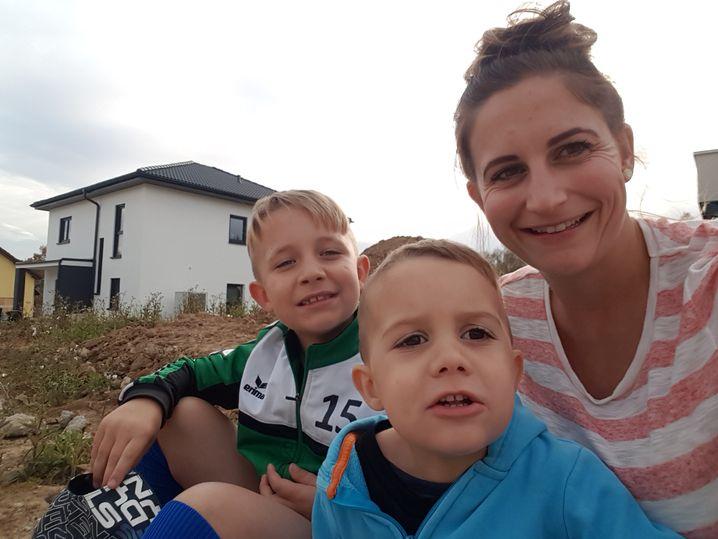 Sarah Melzer mit Familie