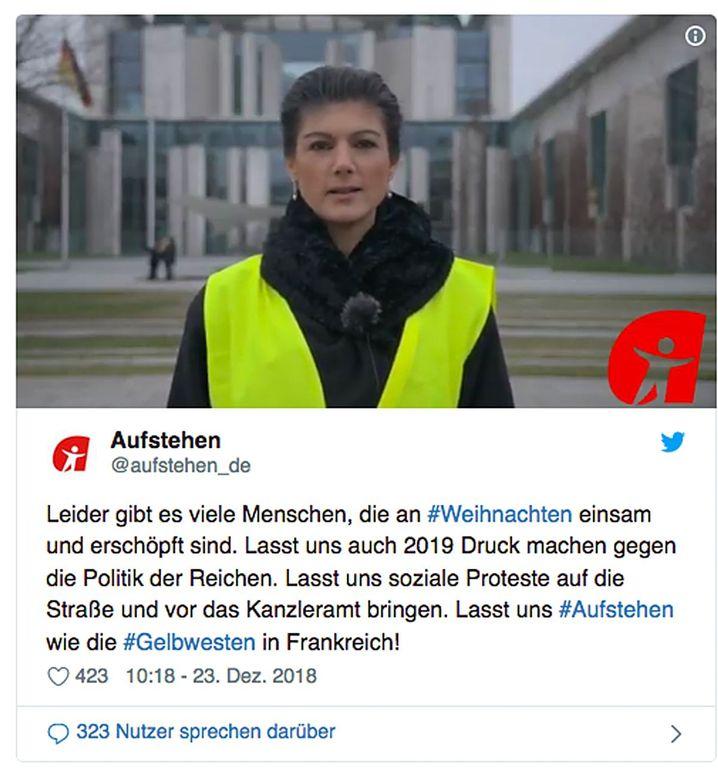 Weihnachtsansprache von Wagenknecht: In Ton, Haltung und Stil einer Regierungschefin