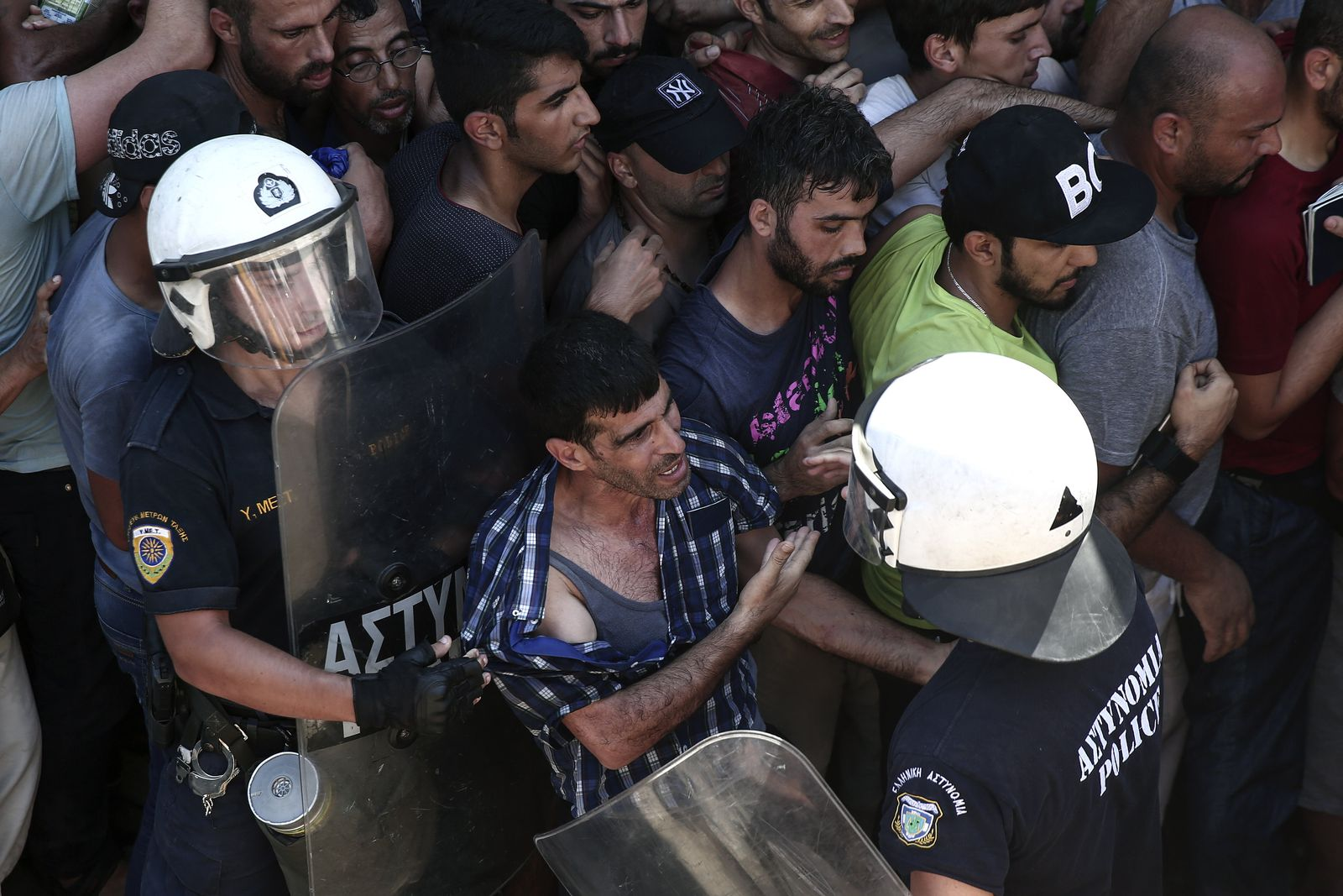 Flüchtlinge Polizei Kos