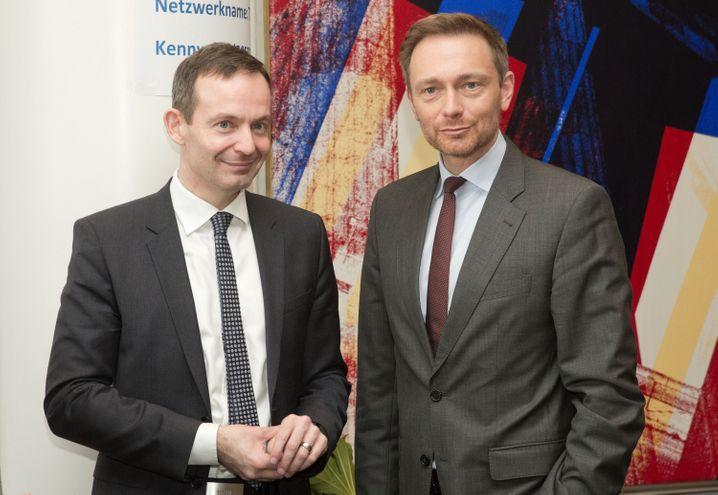 FDP-Politiker Volker Wissing und FDP-Vorsitzender Christian Lindner (März 2016): Soll neuer Generalsekretär an der Seite des Parteichefs werden