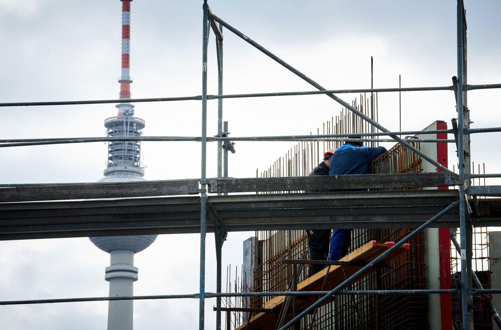 Wohnungsbau Berlin Bauarbeiter