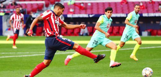 Luis Suárez für Atlético Madrid: Nach zwei Minuten die erste Vorlage, nach 15 das erste Tor