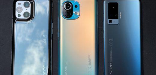 Oppo Find X3 Pro, Xiaomi Mi 11 und Vivo X51 im Test: Vor dieser Konkurrenz muss Huawei zittern