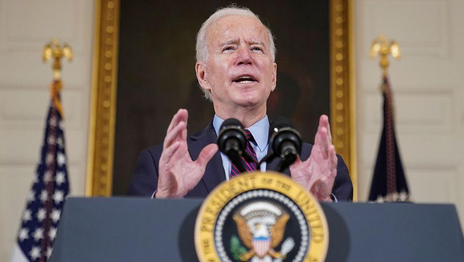 Setzte das Gesetz einen Tag früher als geplant in Kraft: US-Präsident Joe Biden