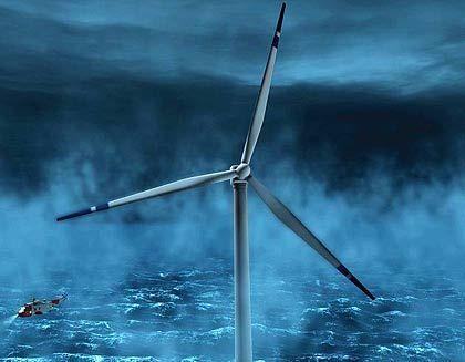 """Windrad (Computermodell): """"Die großen Offshore-Anlagen werden uns voranbringen"""""""