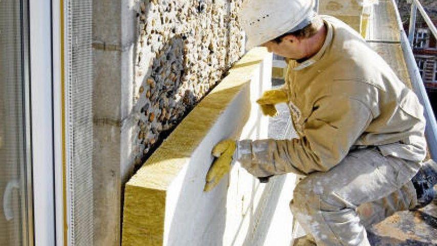 Dämmung einer Hausfassade