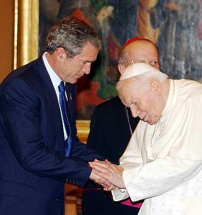 US-Präsident George W. Bush beim Papst: Kritik an der Globalisierung auf Kosten der Entwicklungsländer