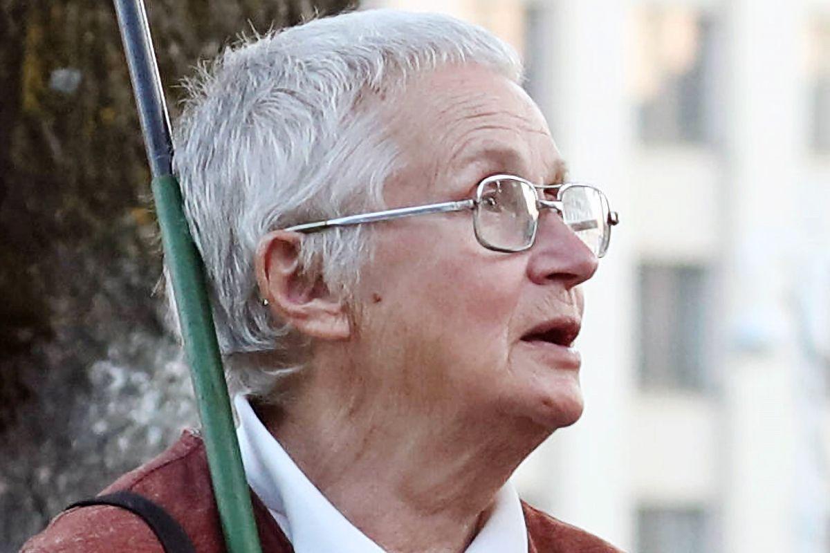 MINSK, BELARUS - SEPTEMBER 15, 2020: Belarusian opposition activist Nina Baginskaya (L) in Independence Square. Valery