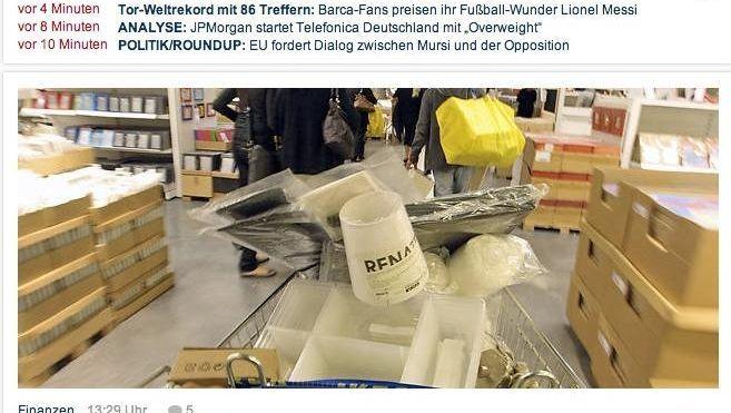 """Ikea-Aufmacher auf """"Focus Online"""""""