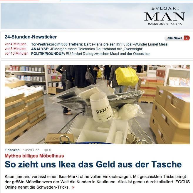 EINMALIGE VERWENDUNG Screenshot Spiegelblog Ikea