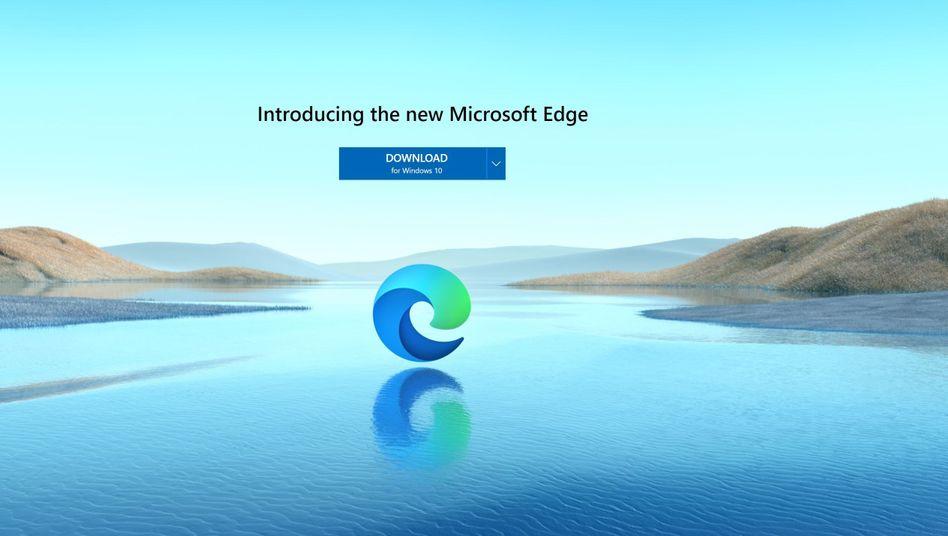 Stilles Wasser, glattgeschliffene Felsen: So idyllisch präsentiert Microsoft die den neuen Edge-Browser