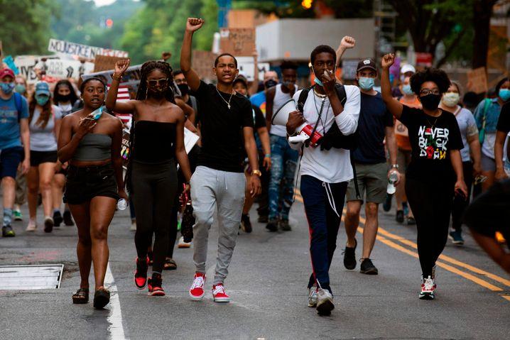Demonstranten in der Nähe des Weißen Hauses: Der Streit geht jetzt erst richtig los