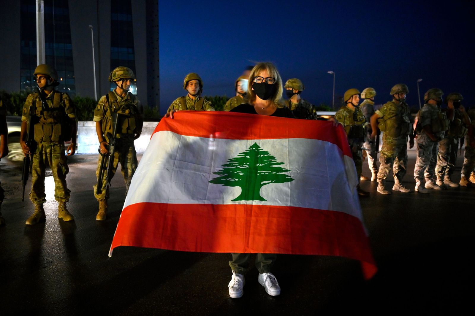 Anti-government protest in Beirut, Lebanon - 27 Sep 2020