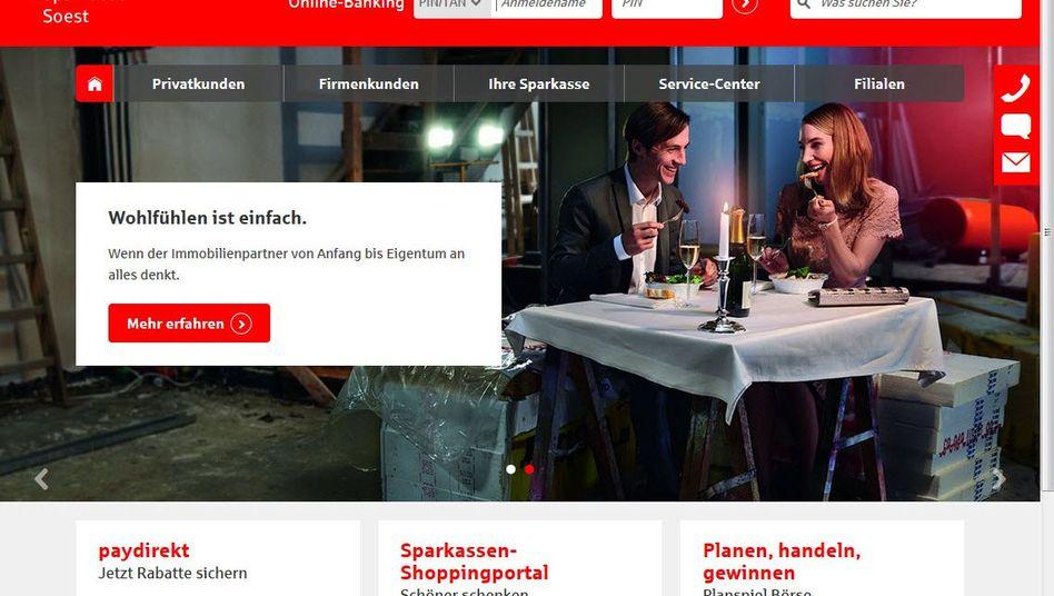Website der Sparkasse Soest