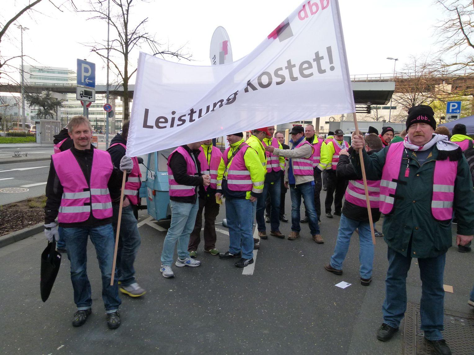 streik verdi flughafen frankfurt