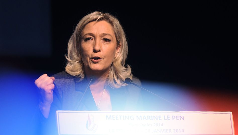 Marine Le Pen in La Rochelle: unterlegen in der Stichwahl
