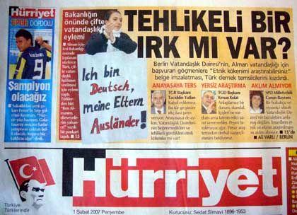 """""""Hürriyet""""-Ausriss vom 1.Februar: """"Gibt es eine gefährliche Rasse?"""""""