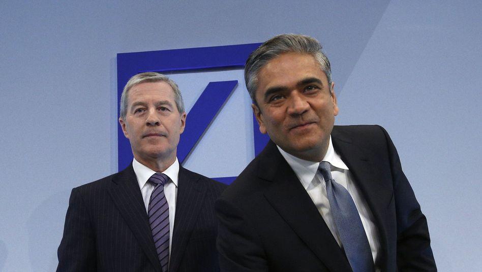 """Co-Chefs der Deutschen Bank Anshu Jain (r.) und Jürgen Fitschen: """"Wir haben geliefert"""""""