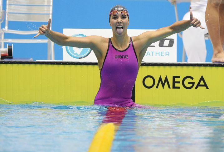 Alexandra Wenk nach ihrem Rekord