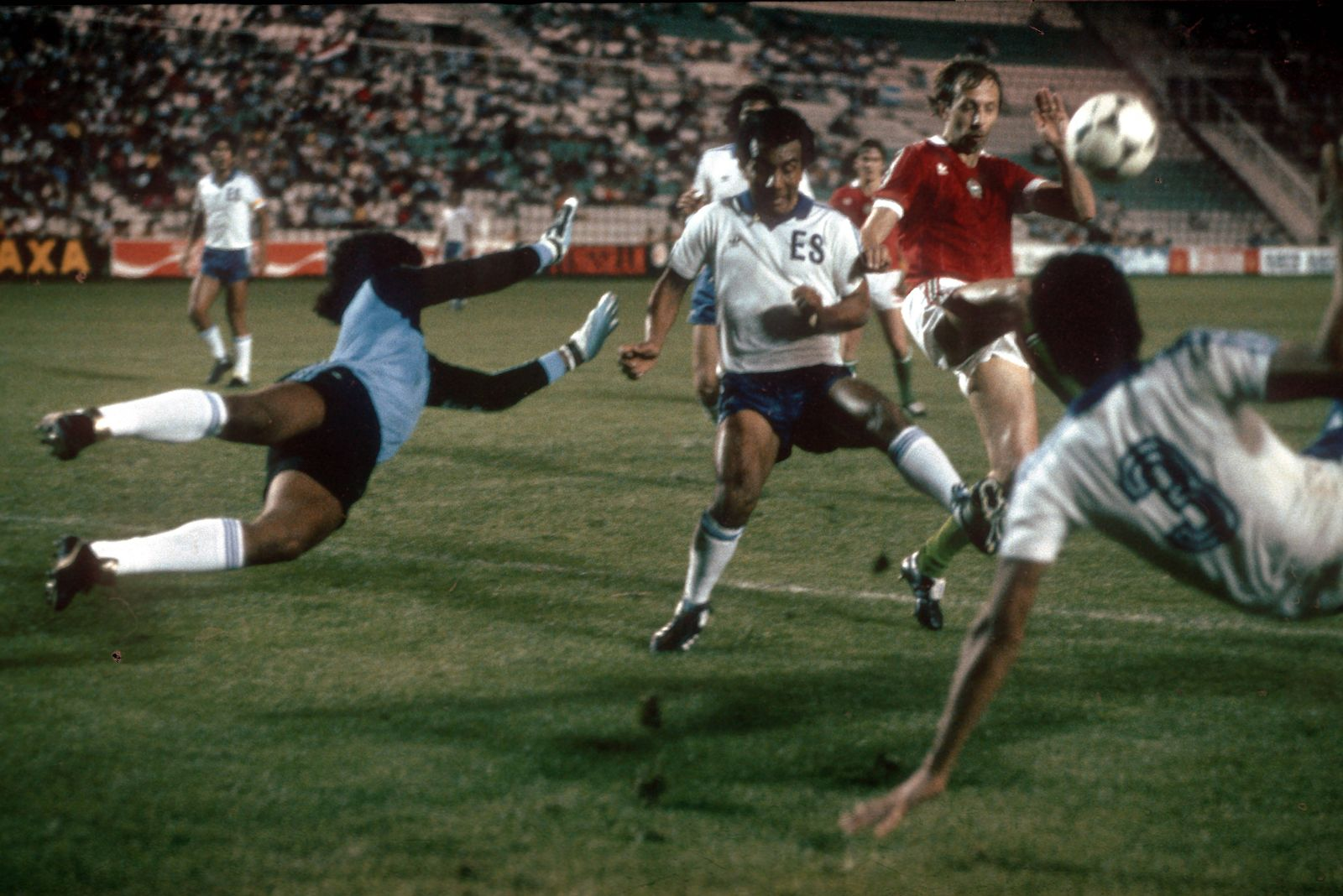 EINMALIGE VERWENDUNG El Salvador vs Ungarn/ WM 1982