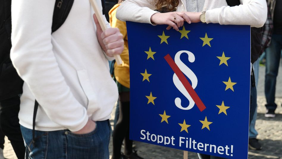 Demonstration gegen Upload-Filter in Leipzig, 23. März 2019