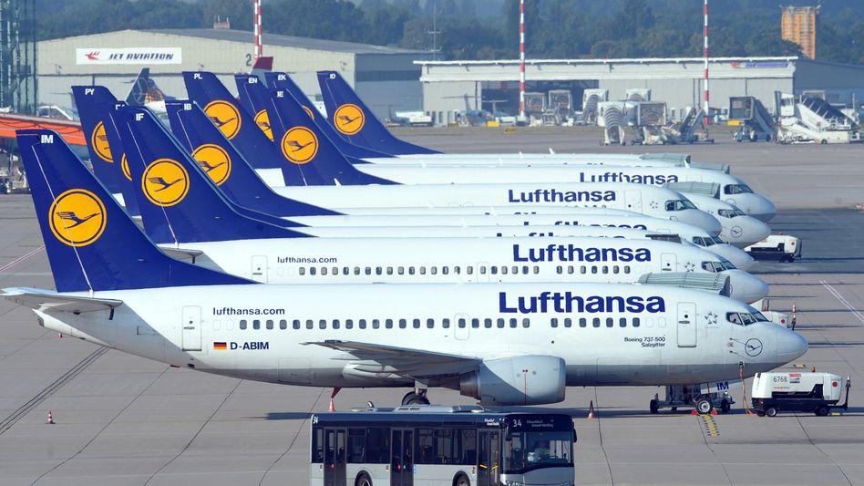 Lufthansa-Maschinen in Düsseldorf: Die Streiks sorgten für Hunderte Ausfälle