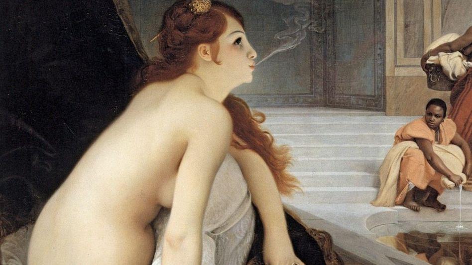 »Die weiße Sklavin« – so der Titel des romantisierenden Haremsgemäldes, das der Franzose Jean Lecomte du Noüy 1888 gemalt hat