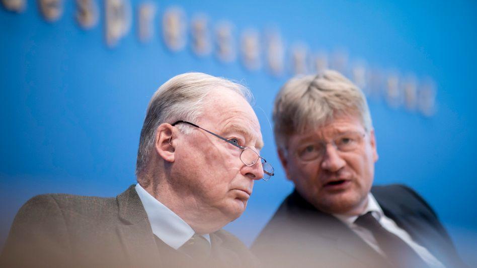 AfD-Chefs Alexander Gauland und Jörg Meuthen: Handlungsdruck vor dem Parteitag