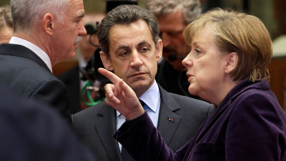 Merkel, Sarkozy, Papandreou: Krisentreffen in Cannes