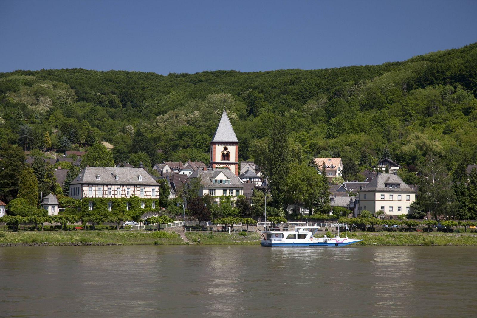 EINMALIGE VERWENDUNG Erpel am Rhein