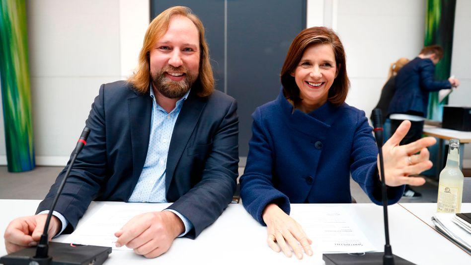 Anton Hofreiter und Katrin Göring-Eckardt, die Vorsitzenden der Bundestagsfraktion Bündnis 90 / Die Grünen
