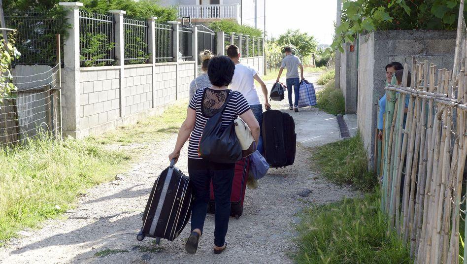 Abgeschobene Familie in Albanien
