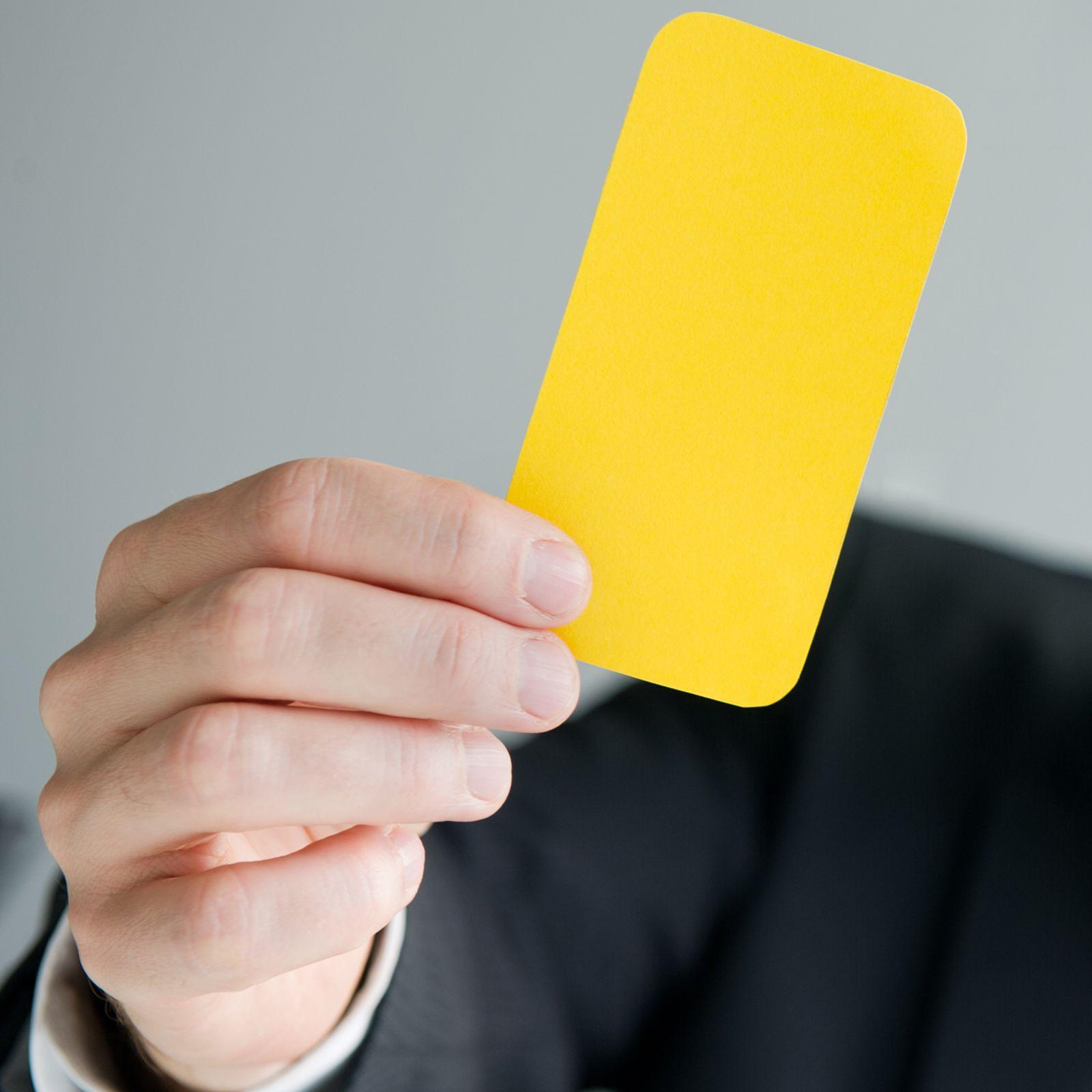 EINMALIGE VERWENDUNG KaSP Gelbe Karte - Eine Abmahnung kann die Vorstufe zur Kündigung sein