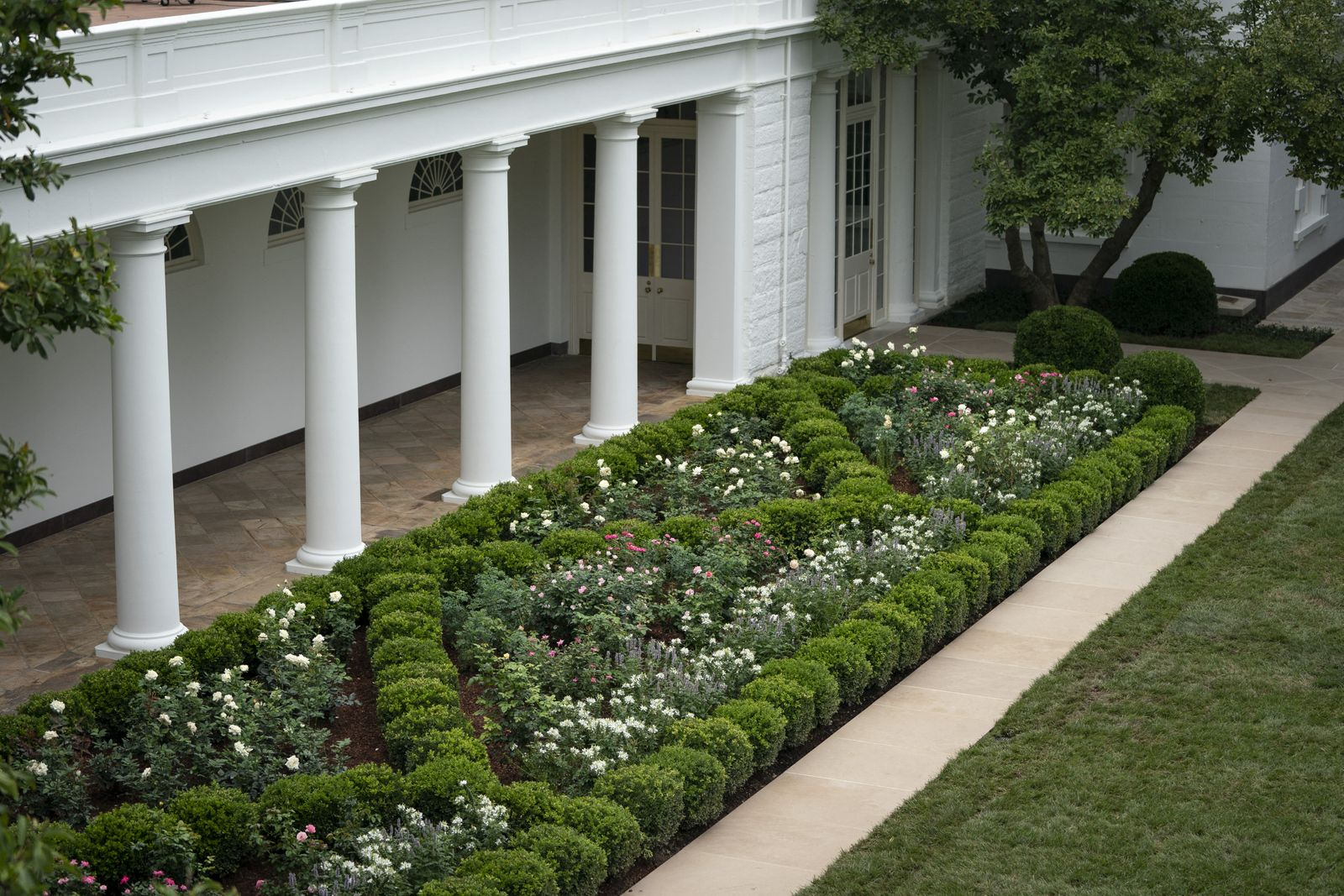 White House Holds Media Preview Of Renewed Rose Garden
