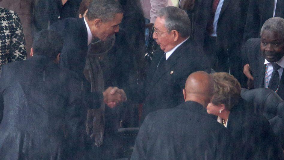 Annäherung zwischen den USA und Kuba: Obama und Castro schreiben Geschichte