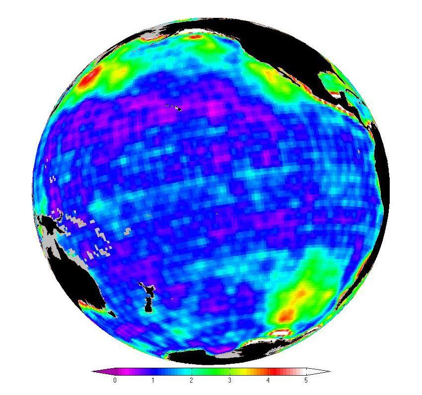 EINMALIGE VERWENDUNG Meeresspiegelschwankungen / NASA
