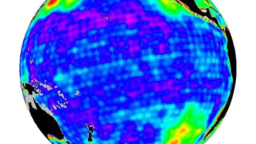 """Der Pazifik im Blick: Schwerkraftdaten des Satelliten """"Grace"""""""