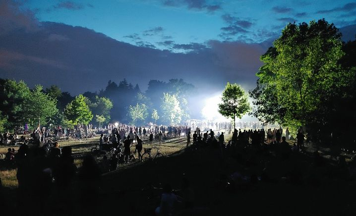 Much attention has recently been focused on large raves held in major German cities, such as this one in Berlin's Hasenheide park recently.
