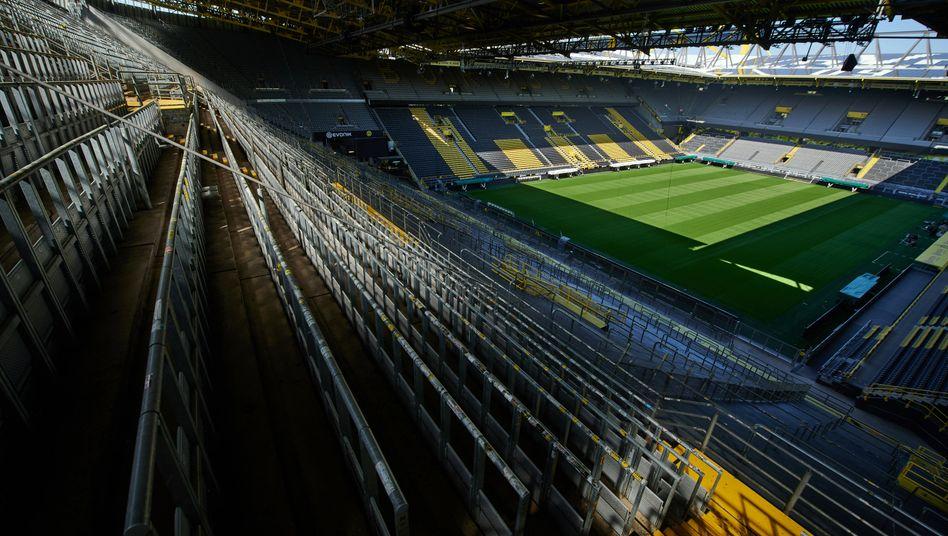 Das Stadion in Dortmund wird noch einige Zeit ohne Zuschauer bleiben