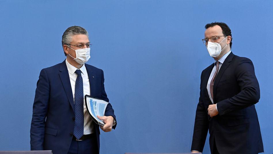 RKI-Chef Lothar Wieler und Gesundheitsminister Jens Spahn