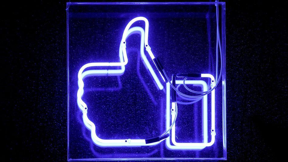 Facebooks Like-Daumen: Seit vielen Jahren gehört er zum sozialen Netzwerk