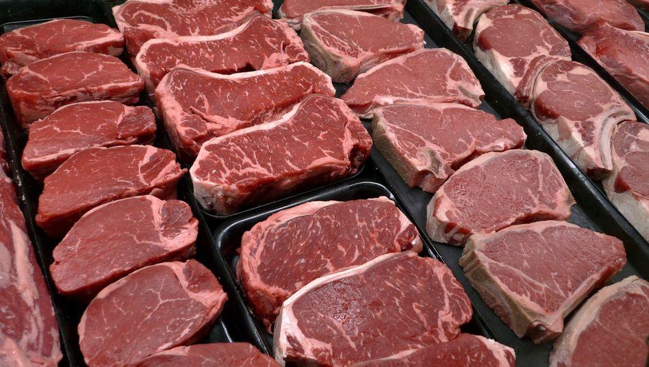 """Fleisch in der Auslage: """"Du kannst nicht jeden Tag ein Steak essen"""""""