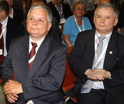 Polish President Lech Kaczynski and his twin, Prime Minister Jaroslaw. What are they saying about Germany today?