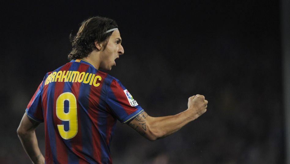 Barça-Stürmer Ibrahimovic: Noch keine Computeranimation