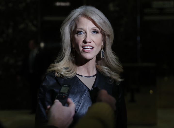 Kellyanne Conway (im Trump Tower, November 2016)