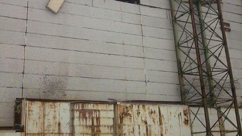 Tschernobyl: Mauer und Dach teilweise eingestürzt